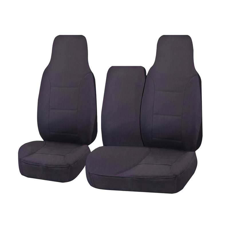 Challenger Car Seat Covers For Toyota Hiace Trh-Kdh Series Single/Crew Cab Lwb 2005-2016 | Charcoal