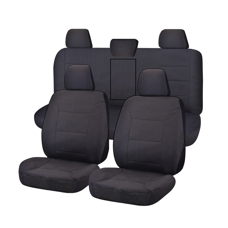 Challenger Car Seat Covers For Toyota Hilux Dual Cab Utility 2015-2020 | Charcoal