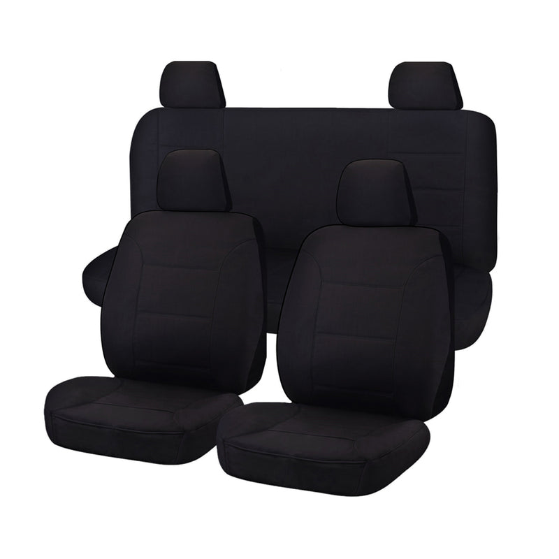 Challenger Car Seat Covers For Nissan Navara D23 Series 3-4 Np300 Dual Cab 2017-2020 | Black