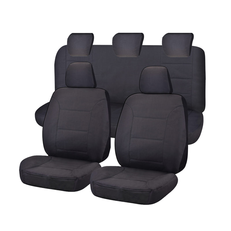 Challenger Car Seat Covers For Ford Ranger Pxii-Pxiii Series Dual Cab 2015-2020 | Charcoal