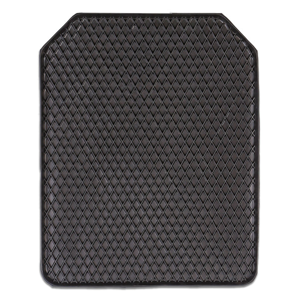 DEEP EDGE 1-Piece Heavy Duty Car Mat - BLACK [Rubber]