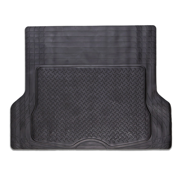 Universal Durable Black Rubber Boot Mat (Size 144 x 109.5cm)