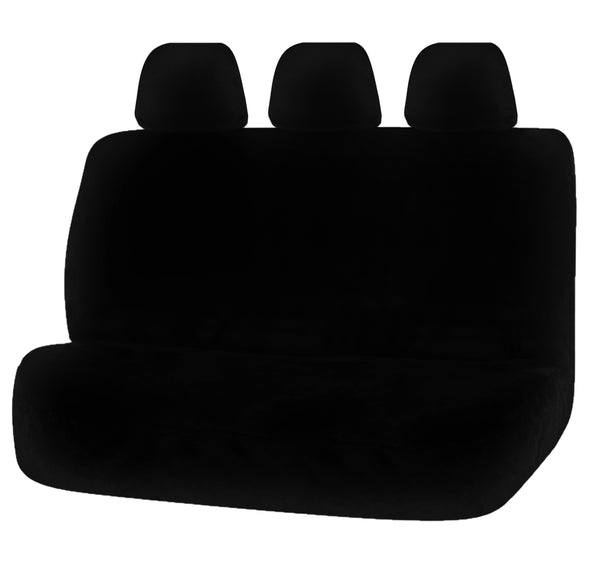 Universal Finesse Faux Fur Rear Seat Cover Size 06/08H - Black