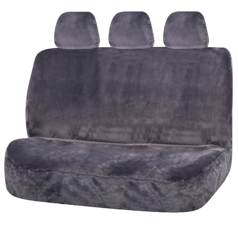 Universal Finesse Faux Fur Rear Seat Cover Size 06/08H | Silver/Grey