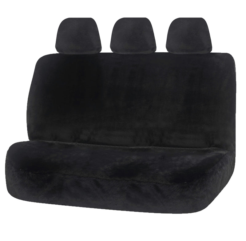Universal Finesse Faux Fur Rear Seat Cover Size 06/08H | Charcoal
