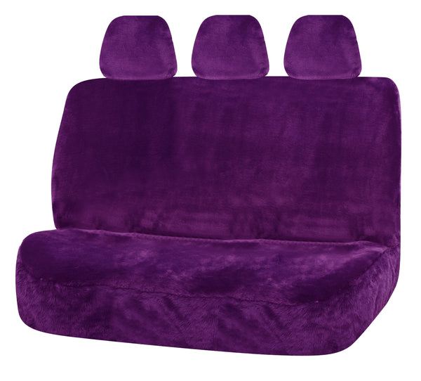 Universal Finesse Faux Fur Rear Seat Cover Size 06/08H - Purple
