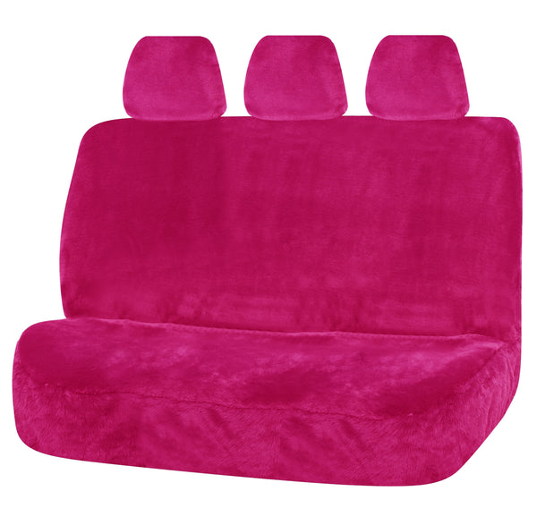Universal Finesse Faux Fur Rear Seat Cover Size 06/08H - Pink