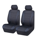 Universal Ultra Light Neoprene Front Seat Covers Size 30/35 - Black / Black