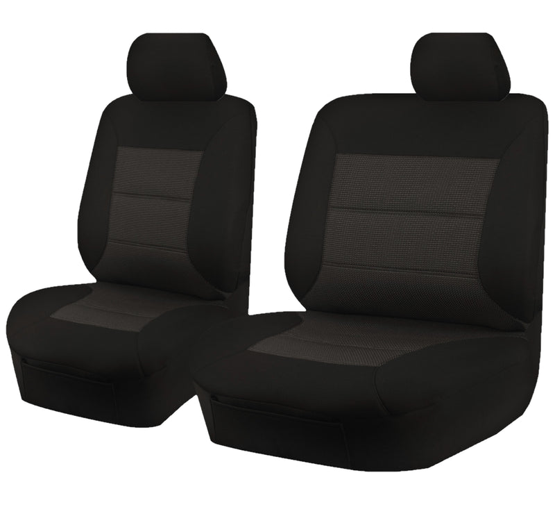 Tailor Made Premium Seat Covers for TOYOTA LANDCRUISER VDJ 70 SERIES 05/2007-ON SINGLE /DUAL CAB CHASSIS BLACK