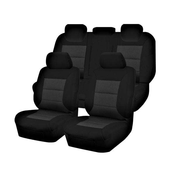 Tailor Made Premium Seat Covers for MITSUBISHI ASX  XC SERIES 10/2016-12/2019 4X4 SUV/WAGON 5 SEATER BLACK