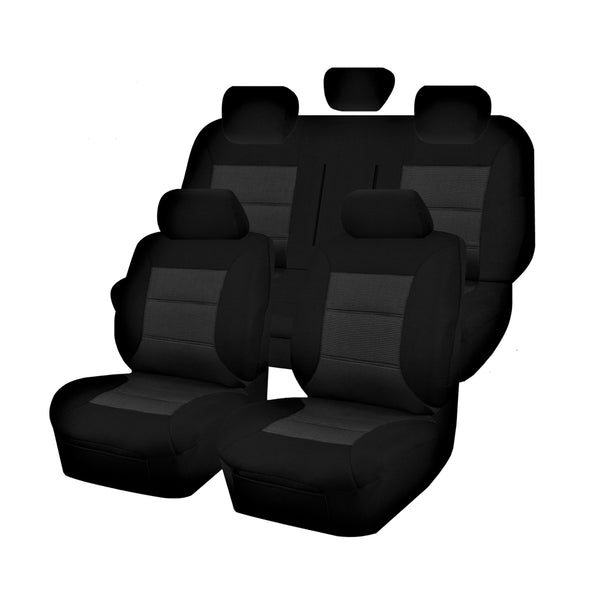 Tailor Made Premium Seat Covers for HOLDEN COLORADO RG SERIES 06/2012-ON DUAL CAB UTILITY BLACK