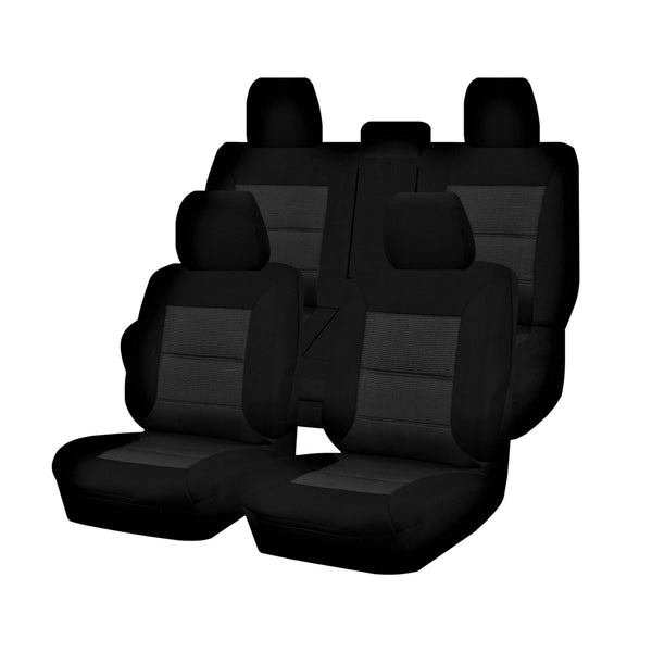 Tailor Made Premium Seat Covers for TOYOTA HILUX  07/2015-ON DUAL CAB UTILITY BLACK