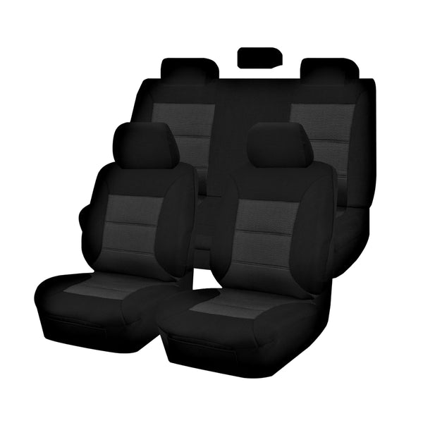Tailor Made Premium Seat Covers for TOYOTA HILUX  04/2005-2016 DUAL CAB UTILITY BLACK