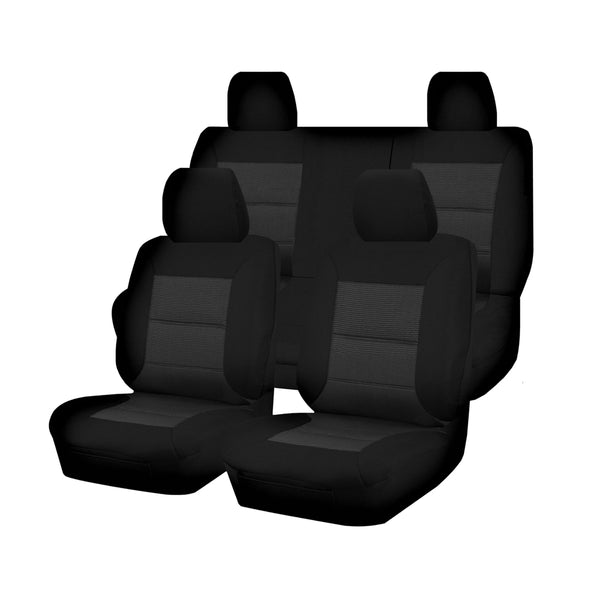 Tailor Made Premium Seat Covers for NISSAN NAVARA  D40 SERIES 01/2006-02/2015 DUAL CAB UTILITY BLACK