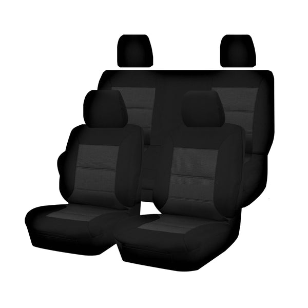 Tailor Made Premium Seat Covers for NISSAN NAVARA D22 SERIES 01/2007-2015 DUAL CAB UTILITY BLACK