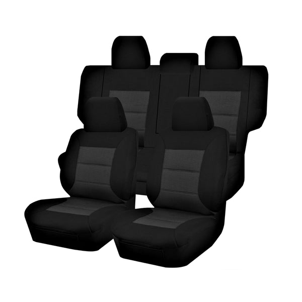 Tailor Made Premium Seat Covers for MITSUBISHI PAJERO NS-NT-NW-NX SERIES 11/2006-ON 4X4 SUV/WAGON 7 SEATER BLACK