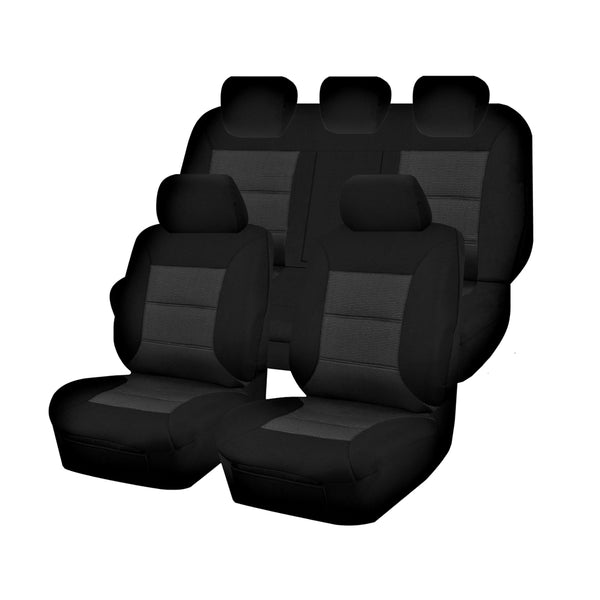 Tailor Made Premium Seat Covers for FORD RANGER PXII-PXIII SERIES 06/2015-ON DUAL CAB UTILITY  BLACK
