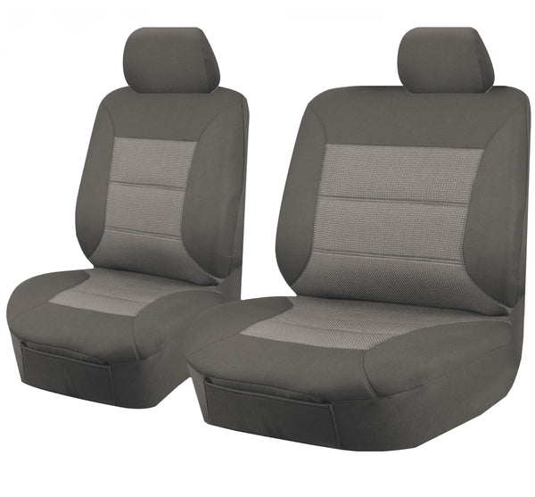 Tailor Made Premium Seat Covers for TOYOTA LANDCRUISER 60.70.80 SERIES 1981-2010 SINGLE CAB/TROOPCARRIER GREY