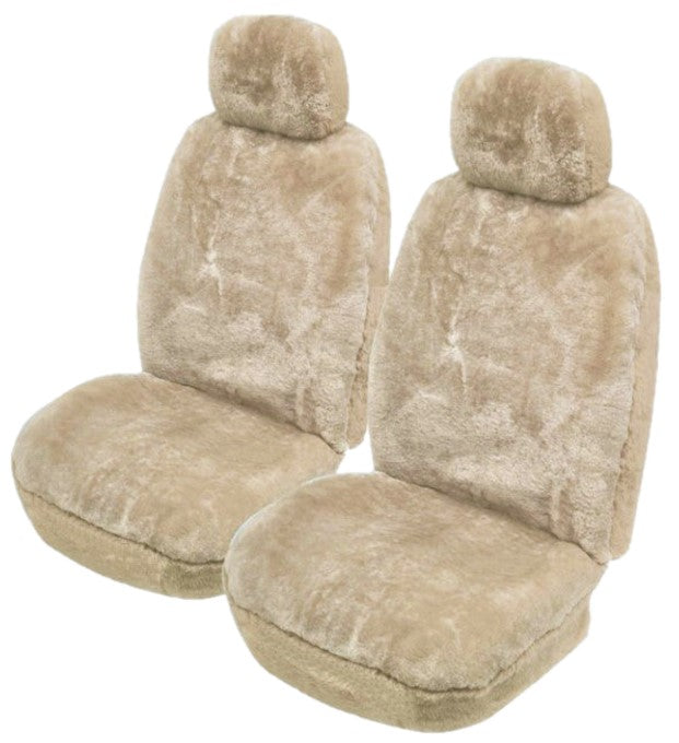 FULL SHEEPSKIN CAR SEAT COVERS ( Lambswool ) 27mm All Over Sheep Skin Mocha