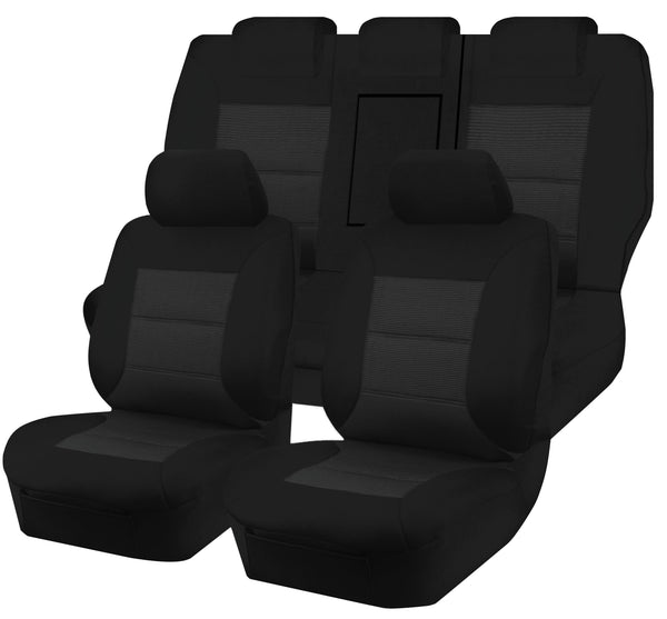 Tailor Made Premium Seat Covers for FORD TERRITORY SX.SY.SZ(I-II) SERIES 05/2004-2016 4X4 SUV/WAGON  5 SEATER BLACK