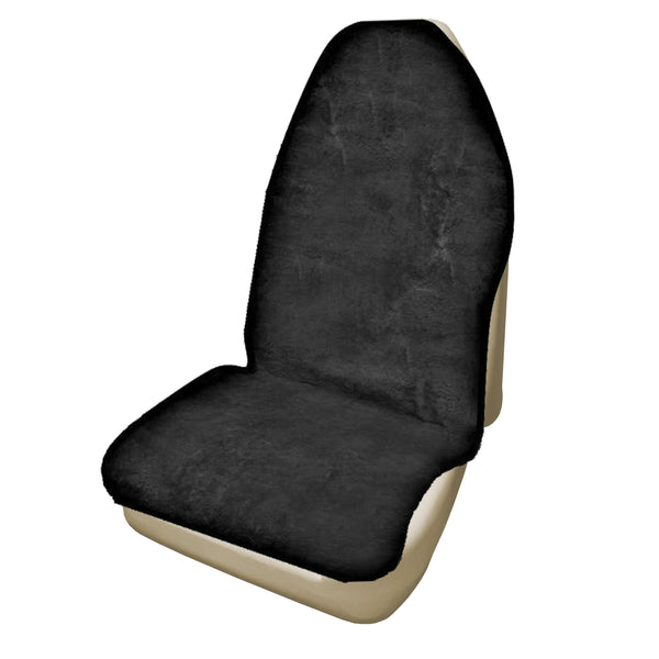 Universal Throwover 20mm Thick Pile Sheepskin Seat Cover - Charcoal
