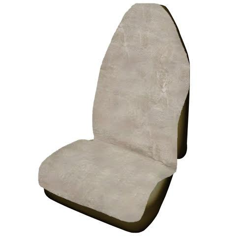 Universal Throwover 20mm Thick Pile Sheepskin Seat Cover - Mocha