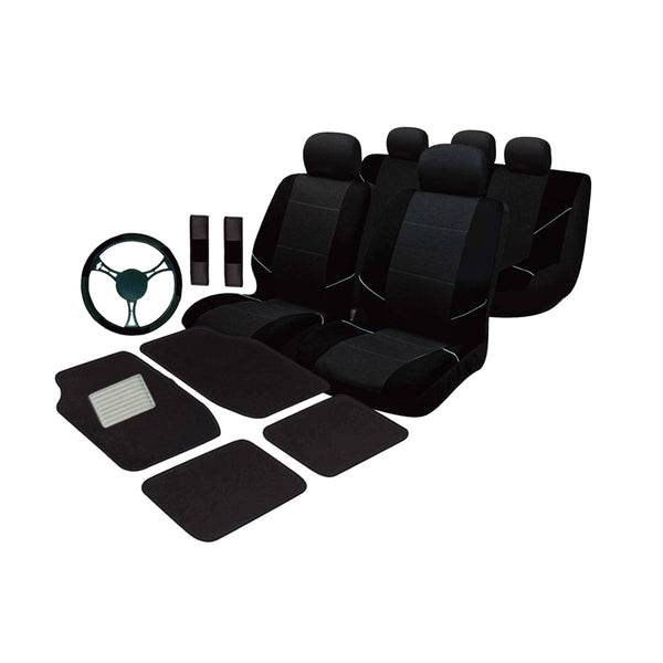 Universal Ultimate Car Accessories Value Pack  - Black