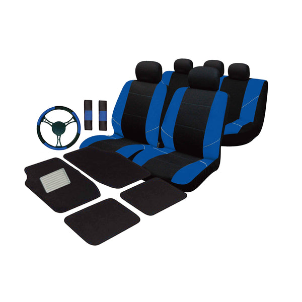 Universal Ultimate Car Accessories Value Pack - Blue