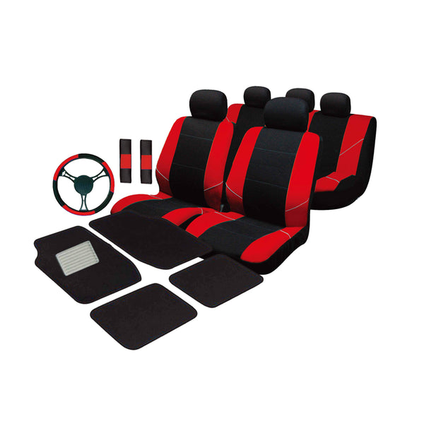 Universal Ultimate Car Accessories Value Pack - Red
