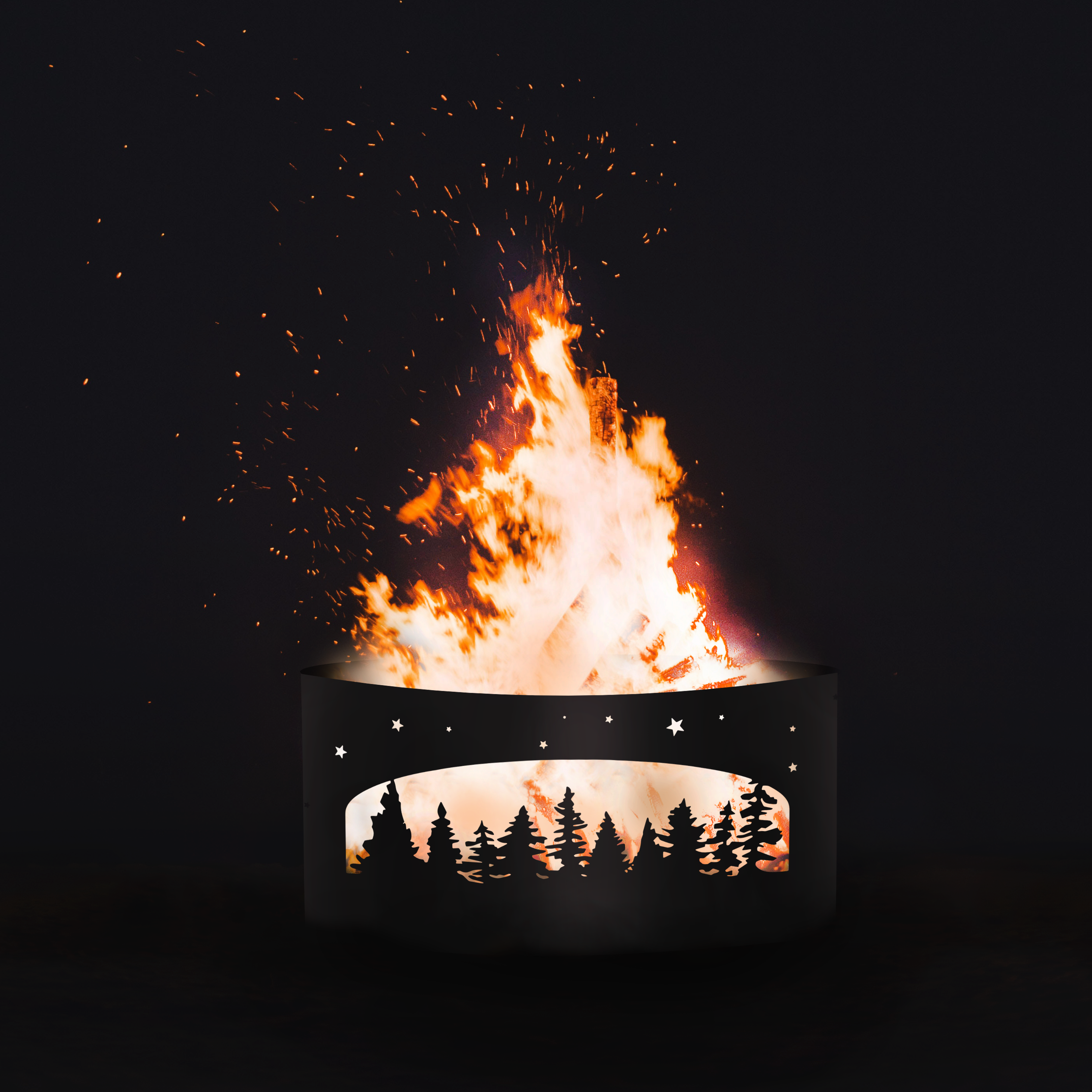 Trees Scene Firepit Personalized