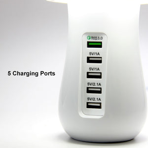 Multi Charging Multi Port Quick Charger 3.0 Mushroom Lamp