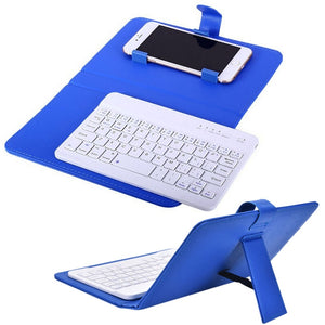 Phone Keyboard with PU Leather Case