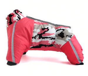 Full Bodied Dog Jacket Winter Coat Waterproof Windproof Ultimate Dog Snowsuit