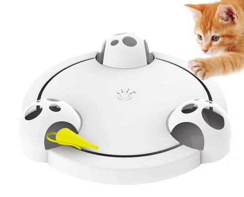Pounce Cat Toy, Interactive Automatic Toy Adjustable Electronic Battery Operated Toy