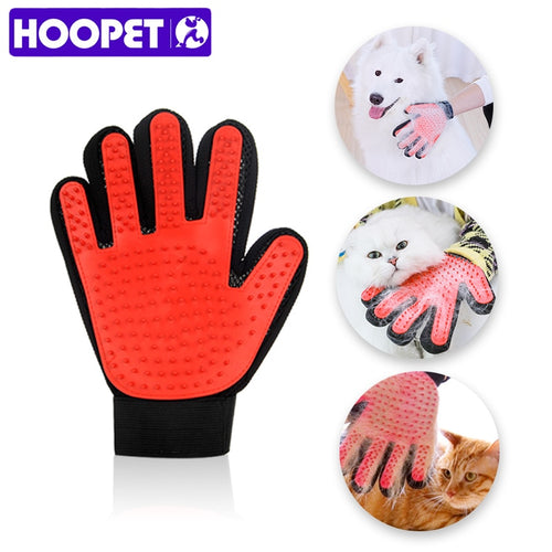 HOOPET Cat Grooming Glove for Cats Gloves Comb for Animals Hair Remover Pet Bath Brush Dog Massage Pet Cleaning Supplies