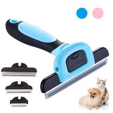 Load image into Gallery viewer, Pet Deshedding Tool Grooming Combs Dogs Cats 4 Inches Wide Stainless Steel Safety Blade