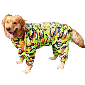 Small to Large Dog Raincoat Waterproof Clothes For Big Dogs Jumpsuit Pet Rain Coat Labrador Golden Retriever