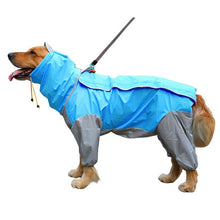 Load image into Gallery viewer, Small to Large Dog Raincoat Waterproof Clothes For Big Dogs Jumpsuit Pet Rain Coat Labrador Golden Retriever