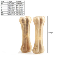 Load image into Gallery viewer, Pet Dog Toy Supplies Chews Toys Leather Cowhide Bone Molar Teeth Clean Stick Food Treats Dogs Bones for Puppy Accessories