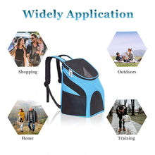 Load image into Gallery viewer, Pet Carrier Backpack Dog Cat Outdoor Travel Carrier Packbag Portable Zipper Mesh Backpack Breathable Dog Packets