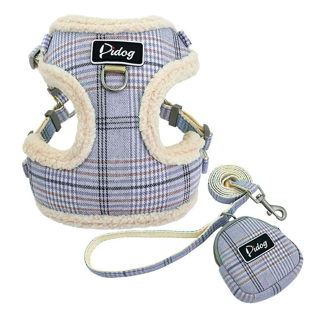 Soft Pet Dog Harnesses Vest No Pull Adjustable Chihuahua Puppy Cat Harness Leash Set For Small Medium Dogs