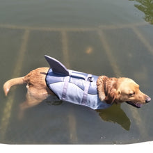 Load image into Gallery viewer, Pet Dog Life Jacket Safety Clothes Life Vest Collar Harness Saver Pet Dog Swimming Preserver Summer Swimwear Mermaid Shark