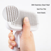 Load image into Gallery viewer, High Quality Pet Products Pet Comb for Dogs Grooming Toll Automatic Hair Brush Remover Dog Cat Comb