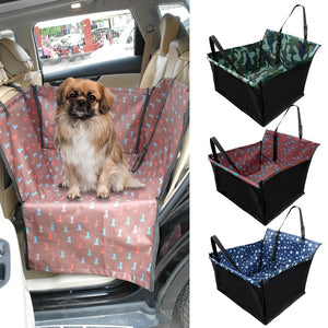 Pet Carriers Dog Car Seat Cover Carrying for Dogs Cats Mat Blanket Rear Back Hammock Protector Waterproof Dog Car Accessories