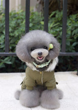 Load image into Gallery viewer, Hooded Driver Style Dog Jacket with Full Legs Cotton Winter Coat  Warm Dog's Coat