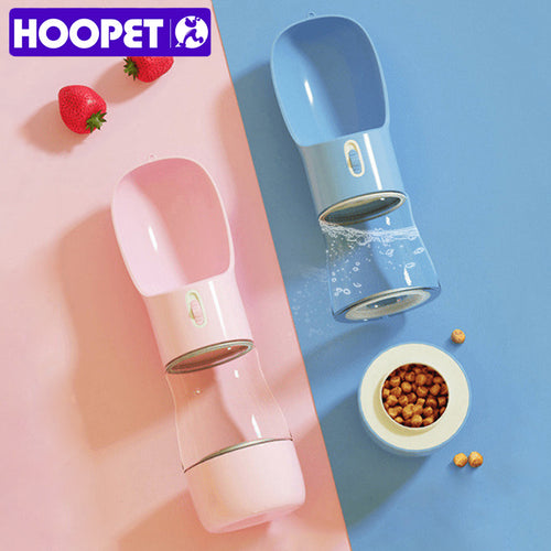 HOOPET Pet Dog Water Bottle Feeder Bowl Portable Water Food Bottle Pets Outdoor Travel Drinking Dog Bowls Water Bowl for Dogs