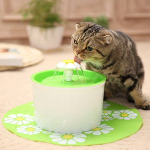 LED Light Pet Drinking Fountain Dispenser Electric USB Dog Cat Mute Drinker Automatic Pet Cat Water Fountain Feeder Bowl