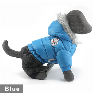 Winter Pet Dog Clothes Super Warm Down Jacket For Small Dogs Waterproof Pets Coat Cotton Hoodies For Chihuahua Puppy Clothing