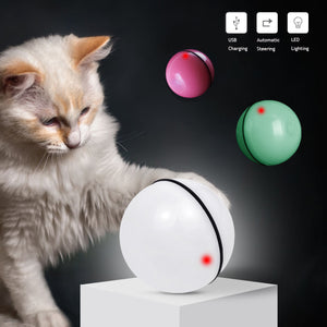 Pet Cats Toys LED Laser Red Light Electronic Rolling Ball Funny Toy Pet Cat Dog Interactive Laser Ball Electric Funny Toy