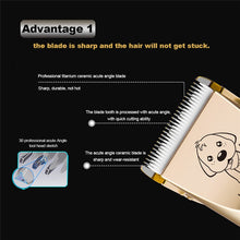 Load image into Gallery viewer, Rechargeable Low-noise Cat Dog Hair Trimmer Electrical Pet Hair Clipper Remover Cutter Grooming Pets Haircut Machine